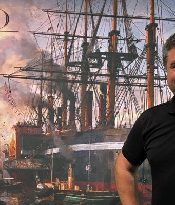"""Kündigte """"Anno 1800"""" auf der Gamescom 2017 an: Benedikt Grindel, Studioleiter Ubisoft Blue Byte"""