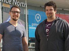 Zwei der fünf Fluffy Fairy Games-Gründer auf der Gamescom 2017: Janosch Sadowski und Daniel Stammler
