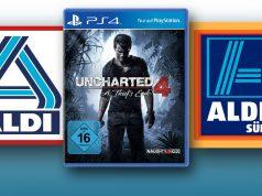 """ALDI Süd und ALDI Nord verkaufen den PlayStation-4-Bestseller """"Uncharted 4"""" ab 26.10. für 19,99 Euro."""