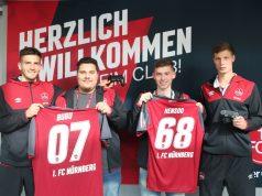 """Von links nach rechts: FCN-Torhüter Fabian Bredlow, Daniel Butenko (""""Bubu""""), Kai Hense (""""Hensoo"""") und FCN-Mittelfeldspieler Patrick Erras (Foto: FCN/Daniel Marr)"""