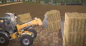 """Wer am schnellsten Strohballen presst und verlädt, gewinnt die """"Farming Simulator Championship""""."""