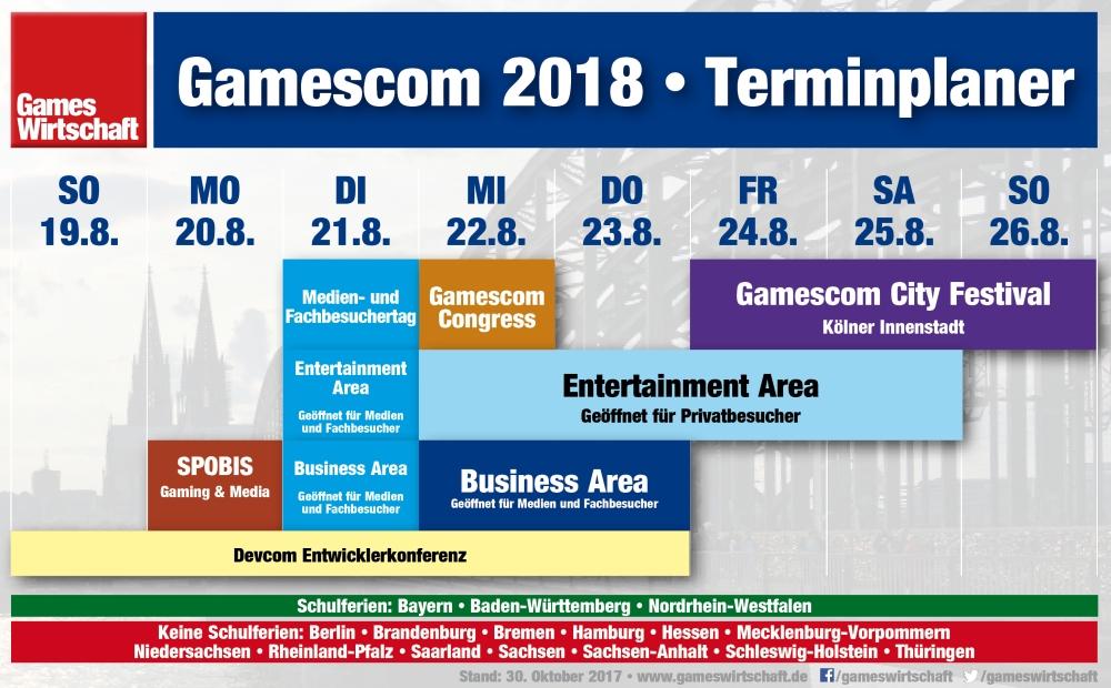 Neu im Terminkalender Gamescom 2018: der SPOBIS Gaming & Media 2018.