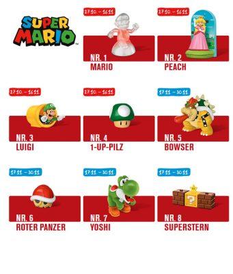 Kooperation zwischen Nintendo und McDonald's: Ab 27. Oktober erobern Super Mario und seine Kumpels das Happy Meal.