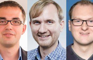 """Die Testsieger beim """"Pressestellentest"""" des PR Magazin 10/2017: Martin Puppe (BIU), Christopher Zurheiden (InnoGames), Stefan Böhne (Blue Byte)"""