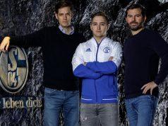 Von links nach rechts: Hans Christian Dürr (Head of eSports), Mitch Voorspoels (Headcoach LoL), Tim Reichert (Chief Gaming Officer) - Foto: FC Schalke 04 eSports/Rabas