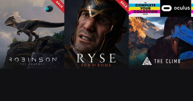 Crytek verkauft Ryse, Robinson und The Climb zum halben Preis.