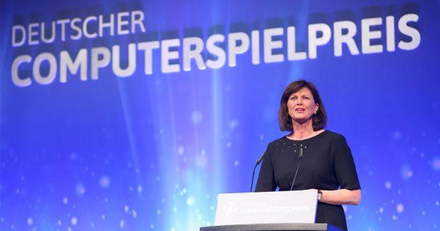Wie schon 2016 wird auch der Deutsche Computerspielpreis 2018 von Wirtschaftsministerin Ilse Aigner verliehen (Foto: Gisela Schober/Getty Images for Quinke Networks)