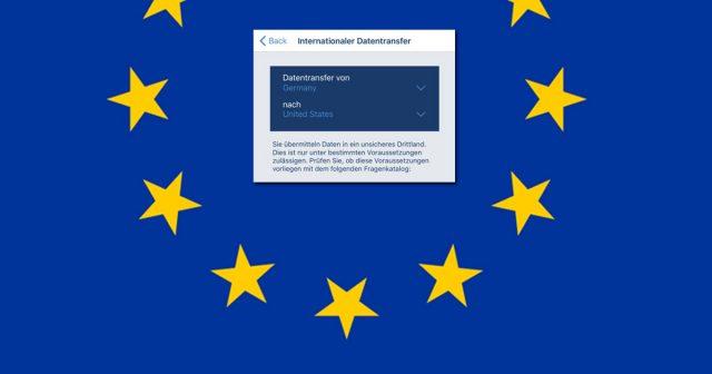 Die EU DSGVO tritt im Mai 2018 in Kraft - die kostenlose Datenschutz-App hilft bei der Vorbereitung.