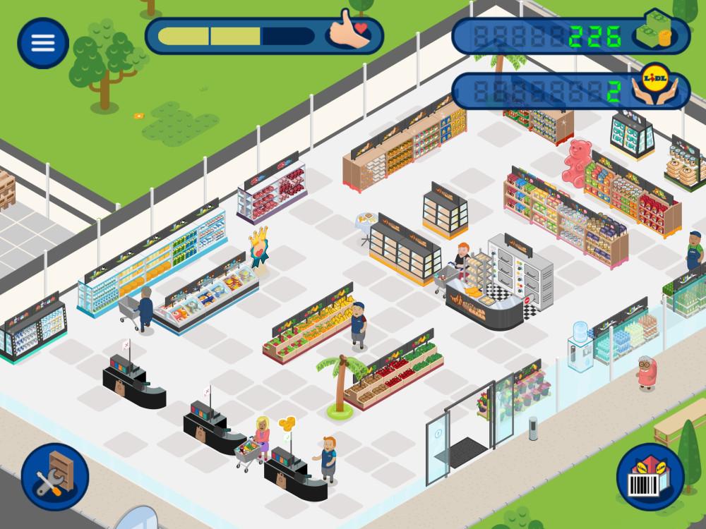 """My Lidl World: Spielmechanik und Spielgrafik erinnern an Aufbauspiele wie """"Game Dev Tycoon""""."""