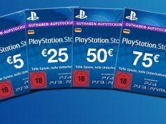 PlayStation Store Guthaben gibt es in 10 Versionen - von 5 € bis 75 €.