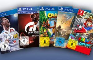 Spiele-Verkaufszahlen Oktober 2017: vier Mal PlayStation 4, ein Mal Nintendo Switch: