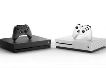 Größtenvergleich mit der Xbox One S (rechts): Die Xbox One X im traditionellen Xbox-Schwarz bietet deutlich höhere Leistung bei kompakteren Abmessungen.
