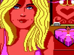 "Adventure-Klassiker ""Leisure Suit Larry in the Land of the Lounge Lizards"" (1987): Blondine Fawn findet Larry ziemlich fesselnd."