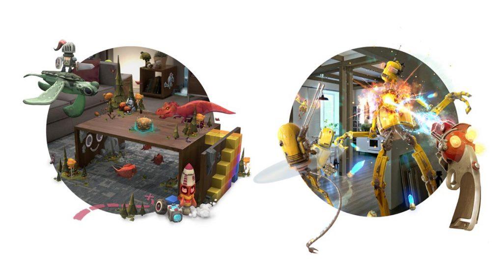 Anwendungsbeispiele für Magic Leap: Per Augmented Reality lässt sich die reale Umgebung durch virtuelle Gegenstände erweitern - prädestiniert für Games.