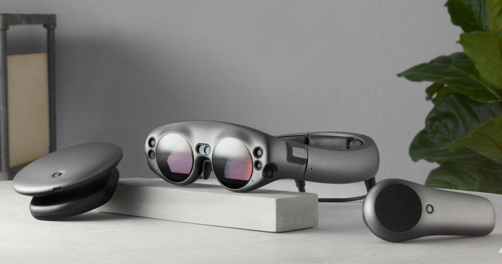 Die drei Magic Leap-Komponenten im Überblick: Basisstation, Brille, Controller