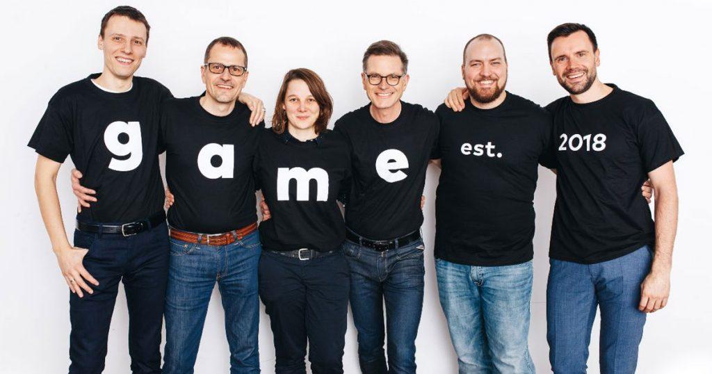Der frisch gewählte Vorstand des Game-Verband (von links): Stefan Marcinek, Ralf Wirsing, Linda Kruse, Jens Kosche, Lars Janssen, Geschäftsführer Felix Falk (Foto: Game / Jakob Nawka)