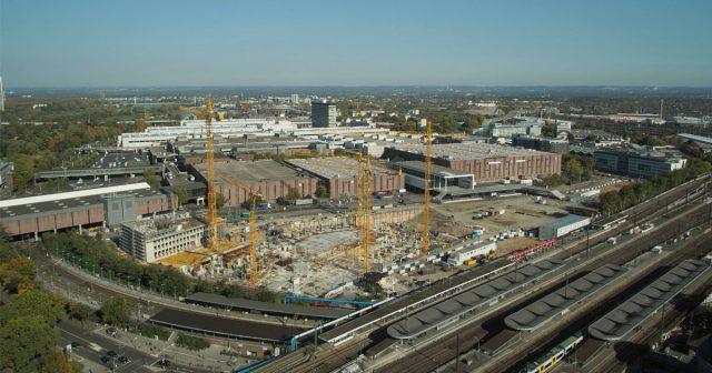 Großbaustelle KoelnMesse: Die Rekordgewinne werden in neue Hallen und die Sanierung investiert (Foto: KoelnMesse/STRABAG)