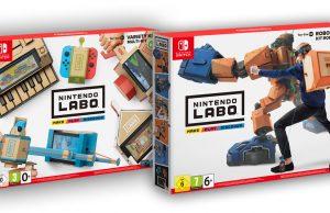 Die beiden Sets von Nintendo Labo: Multi-Set und Robo-Set erscheinen am 27. April 2018.