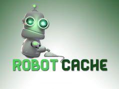Ein kleiner Roboter ist das Maskottchen des Steam-Herausforderers Robot Cache.