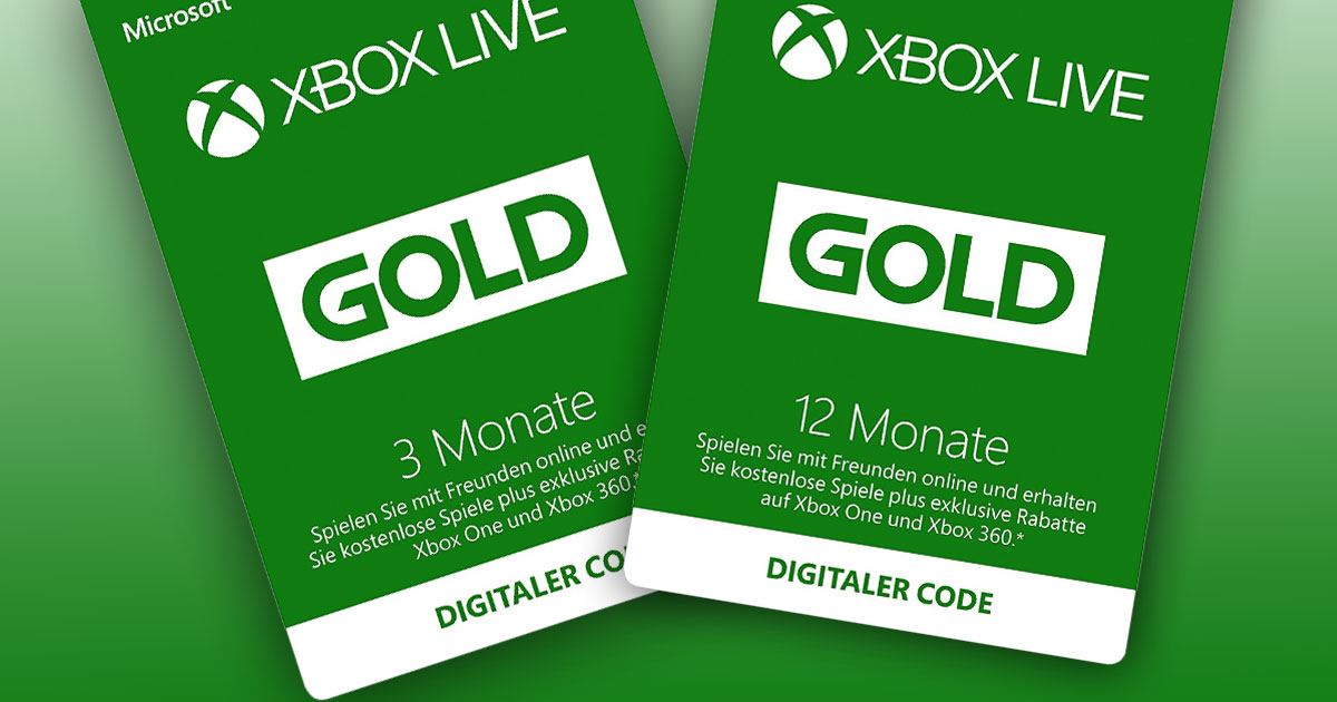 xbox live gold angebote drei monate kaufen drei gratis. Black Bedroom Furniture Sets. Home Design Ideas