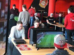 Mit einem Qualifikationsturnier in der BayArena ermittelte Bayer 04 den Mitspieler von Profi Marvin Hintz für die Virtuelle Bundesliga 2018 (Foto: Bayer 04 Leverkusen).
