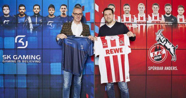 Die Geschäftsführer Alexander Wehrle (1. FC Köln) und Alexander Müller (SK Gaming) kooperieren im Zuge der Virtuellen Bundesliga 2018 (Foto: 1. FC Köln)