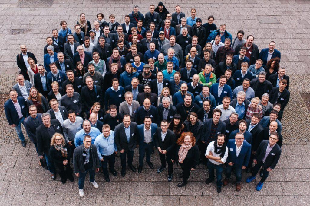 Die Gründungsmitglieder des Game-Verband vor der konstituierenden Versammlung am 29. Januar 2018 in Berlin (Foto: Game/Jakok Nawka)