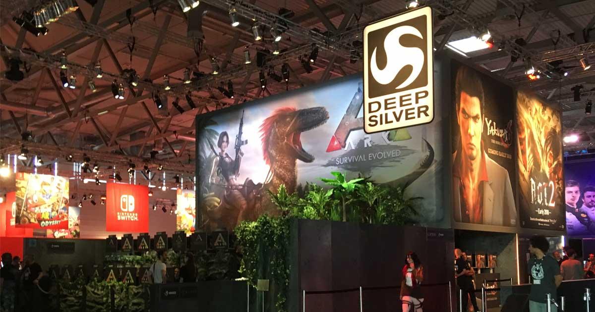 """Koch Media vermarktet eigene Spiele unter dem Label """"Deep Silver"""" (hier auf der Gamescom 2017)"""
