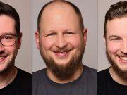 Michael Kählig, Michael Zignon und Julius Busch (von links) übernehmen Marketing und PR bei Rockstar Games in München.