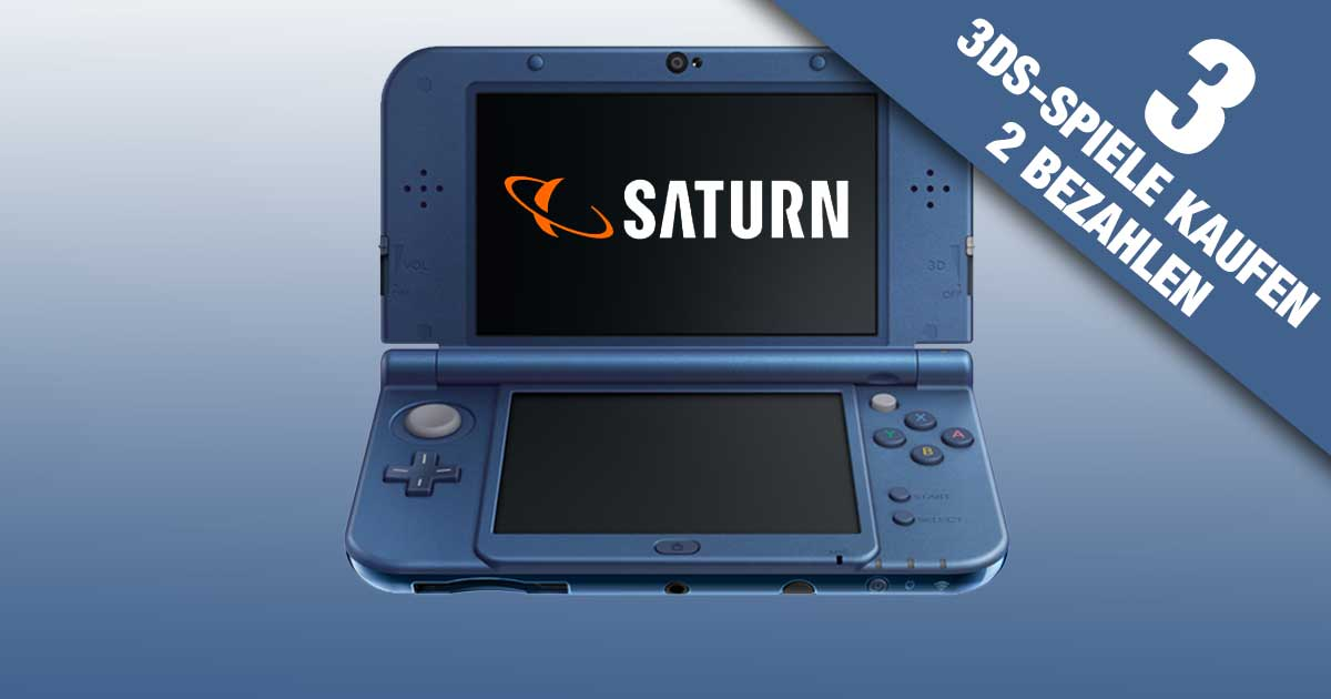 nintendo 3ds aktion bei saturn 3 spiele kaufen 2 bezahlen. Black Bedroom Furniture Sets. Home Design Ideas