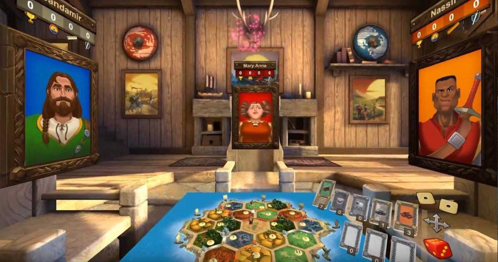 """Asmodee-Neuheit """"Catan VR"""": Via Oculus Rift wird das Spielfeld buchstäblich lebendig."""
