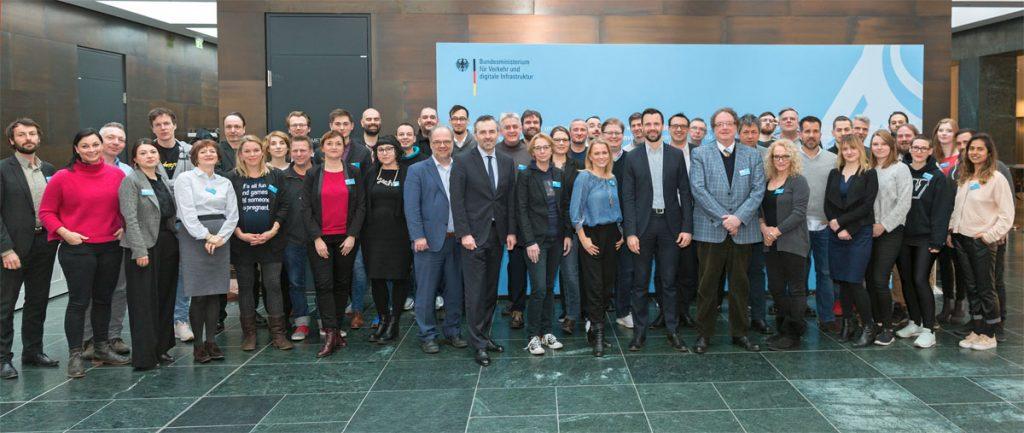 Die Hauptjury des Deutschen Computerspielpreises 2018 (Foto: BMVI)