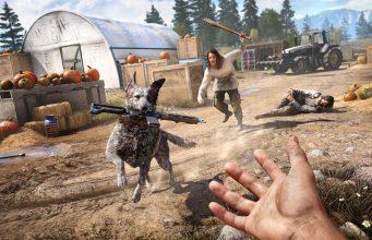 """Action-Neuheit """"Far Cry 5"""": Hund Boomer verspricht zuweilen Rettung in höchster Not."""