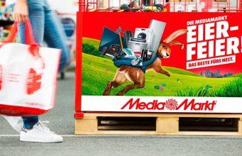 """Fünf Spiele kaufen, drei bezahlen: Die aktuelle """"Eier Feier""""-Aktion von Media Markt gilt bis Ostersamstag."""
