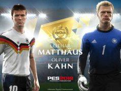 "German Legends: Konami würdigt Lothar Matthäus und Oliver Kahn in ""PES 2018""."