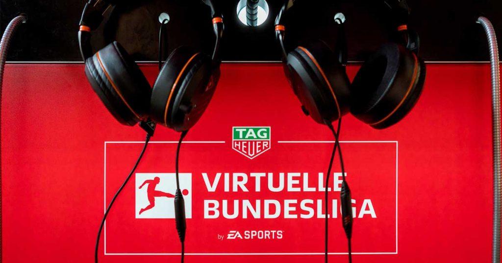 """Bei der Ausrichtung der """"Virtuellen Bundesliga"""" arbeitet """"FIFA""""-Hersteller Electronic Arts mit der DFL und Sponsoren zusammen (Foto: VBL / Felix Gemein)"""