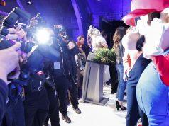 Blitzlichtgewitter für die Sieger: Der Computerspielpreis 2018 wird am 10. April 2018 in München verliehen (Foto: Getty Images / Franziska Krug / Quinke Networks)