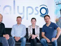 Das Führungs-Team von Kalypso Media: Simon Hellwig (Gründer und Geschäftsführer), Christoph Bentz (Finanzen), Anika Thun (Marketing) und Wolfgang Duhr (Publishing)