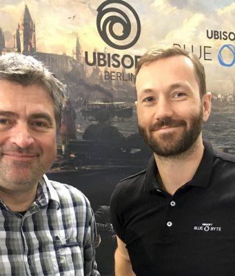 Benedikt Grindel (Managing Director) und Istvan Tajnay (Studio Manager Ubisoft Berlin) wollen die Entwicklungskapazitäten in Deutschland zügig ausbauen.