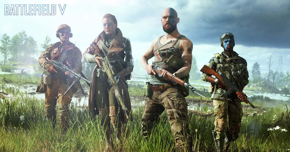 """Tattoos, Gesichtsbemalung, Waffen: Die """"Battlefield 5""""-Soldaten lassen sich auf vielfältige Art und Weise individualisieren - auch via Mikrotransaktion (Abbildung: EA)"""