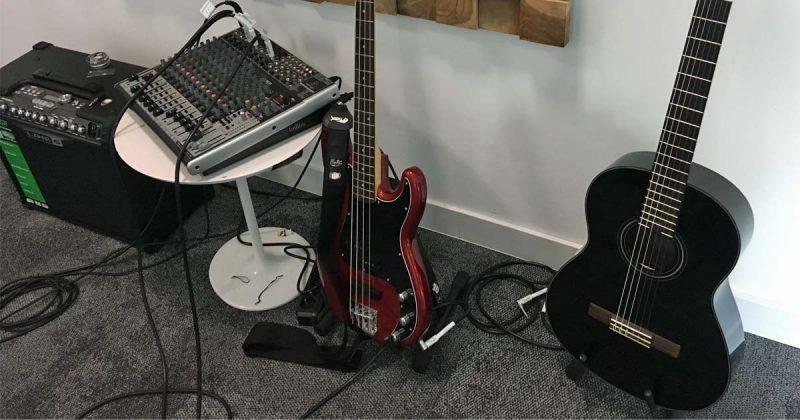 Das Musikstudio dient alleine der Zerstreuung - die Spielmusik wird andernorts komponiert.