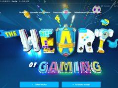 """Die neue Gamescom-Website begrüßt die Besucher mit dem animierten Motto der Messe: """"The Heart of Gaming"""" (Abbildung: KoelnMesse)"""