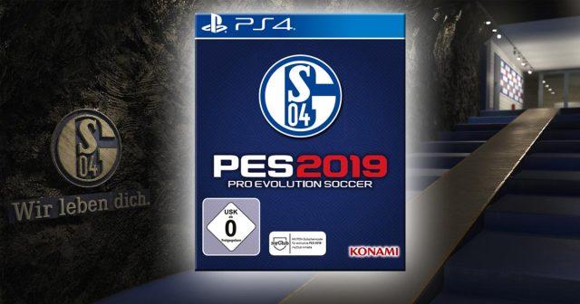 Parallel zum Verkaufsstart von PES 2019 bringt Konami eine eigene PES 2019 Schalke Edition auf den Markt (Abbildung: Konami Digital Entertainment)