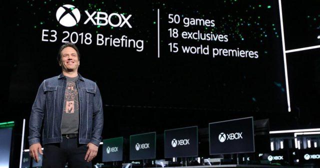 Xbox-Chef Phil Spencer präsentierte die Xbox-Neuheiten im Rahmen des Microsoft E3 2018-Briefing (Foto: Microsoft)
