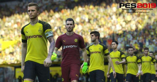 Kein BVB in PES 2019: Konami hat bestätigt, dass Borussia Dortmund das Lizenzabkommen vorzeitig beendet hat (Abbildung: Konami)