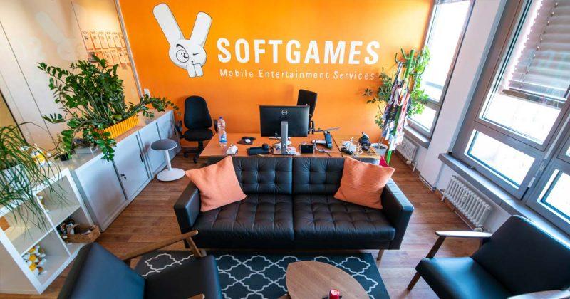 Hier arbeitet der Chef: Direkt gegenüber des Eingangs liegt das Büro von Softgames-CEO Alexander Krug.