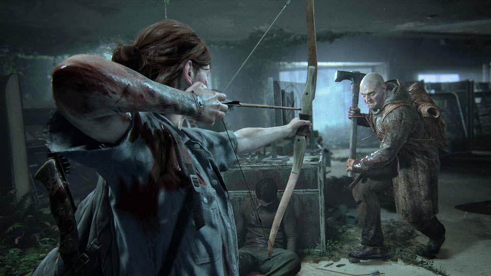 """Nervenzerfetzende Spannung: Die Zweikämpfe in """"The Last of Us 2"""" sind nichts für schwache Nerven (Abbildung: Sony Interactive)"""