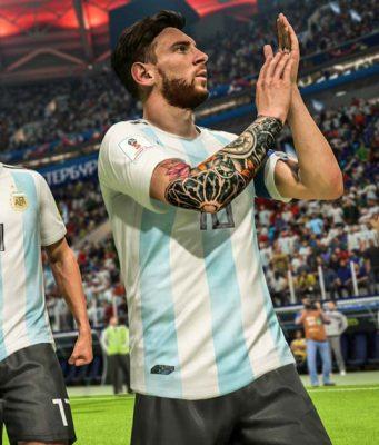 """Wieder kein WM-Pokal für Lionel Messi, doch das Gratis-WM-Update für """"FIFA 18"""" hat sich für EA offenkundig ausgezahlt (Abbildung: EA Sports)"""