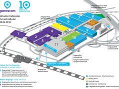 Der vorläufige Gamescom Hallenplan 2018 (Abbildung: KoelnMesse)