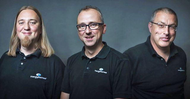 Die HandyGames-Gründer Christopher Kassulke (CEO), Markus Kassulke (CEO) und CFO Udo Bausewein - Foto: HandyGames